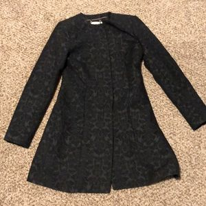 Bb Dakota dressy coat baroque pattern knee length